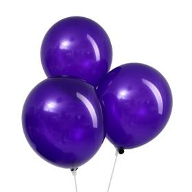 """Шар латексный 12"""", пастель, набор 12 шт., цвет фиолетовый"""
