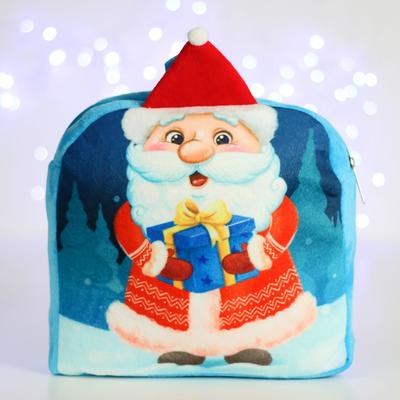 """Children's backpack """"Santa Claus with a gift"""" 24*24 cm"""
