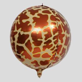 """Шар фольгированный 18"""" «Зоо. Жираф», сфера"""