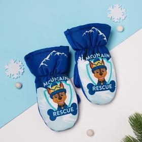 """Рукавицы (варежки) зимние PAW PATROL """"Mountain"""" р-р 12 (1,5-2 года), синий"""