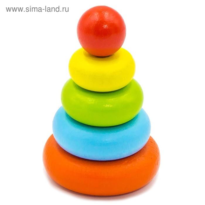 """Пирамидка """"Колечки"""", 5 элементов"""