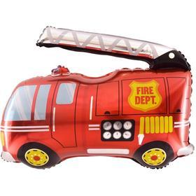 """Шар фольгированный 32"""" «Пожарная машина», фигура"""
