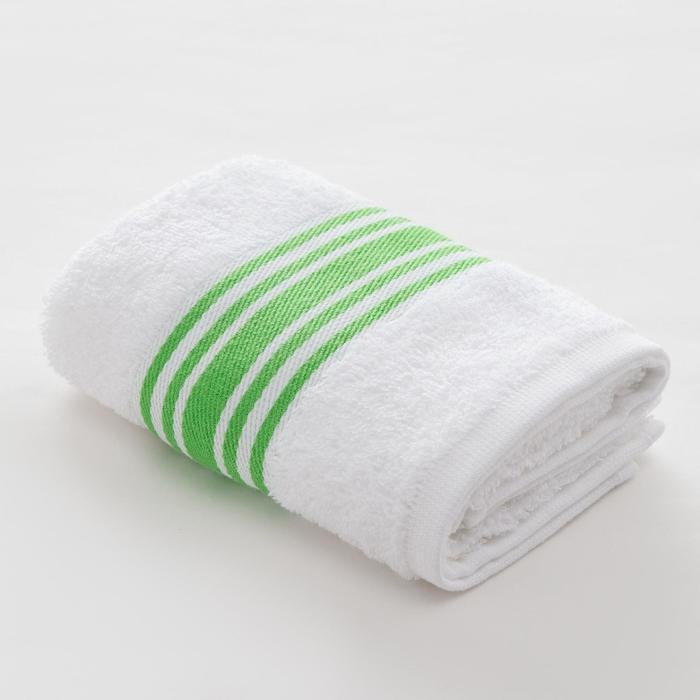 Полотенце махровое LoveLife «Полосы» 30*60 см, цв. зеленый 100% хл, 360 гр/м2 - фото 762297