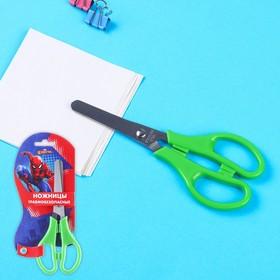 Ножницы детские 12 см, безопасные, пластиковые ручки, Человек-Паук, МИКС