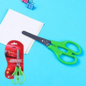Ножницы детские 12 см, безопасные, пластиковые ручки, Тачки, МИКС Ош