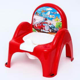 Горшок-стульчик «Машинки», цвет красный