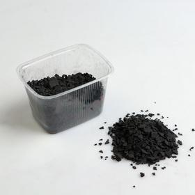 Шунгит для воды, фракция 5-10 мм, пласт.коробка, 300 гр.