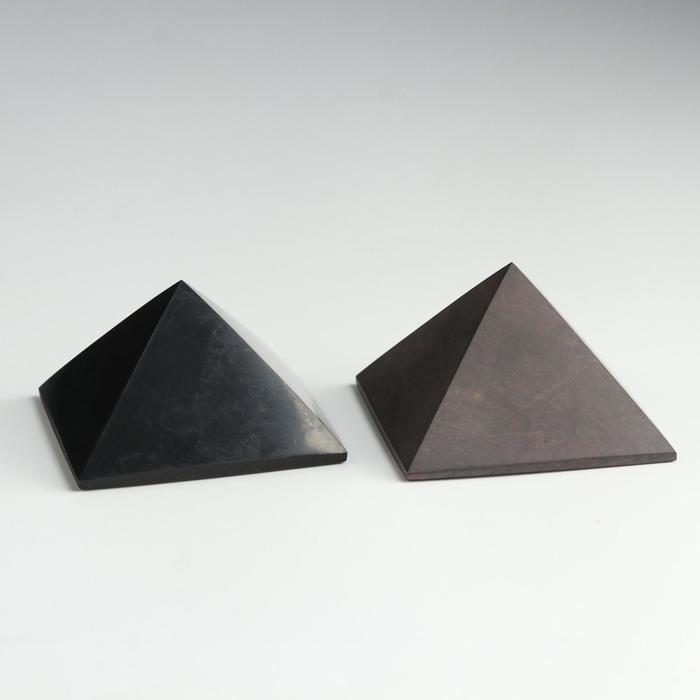 """Пирамиды гармонизаторы """"Шунгит-Малиновый кварцит"""", 5 см"""