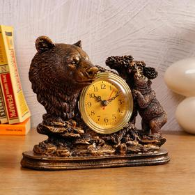 """Часы настольные """"Медведица"""", 1 АА, дискретный ход,  23х8.7х19 см"""