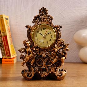 """Часы настольные """"Дуэт ангелов"""", 1 АА, дискретный ход,  13х10х20.5 см"""