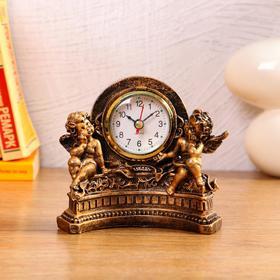 """Часы настольные """"Ангелы"""", 1 АА, дискретный ход,  14х7х12.5 см"""