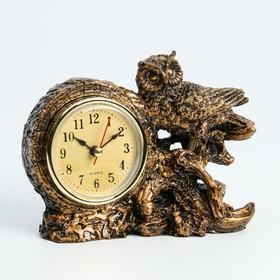 """Часы настольные """"Умный филин"""", 1 АА, дискретный ход,  14х6.5х11.5 см"""