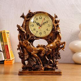 """Часы настольные """"Скачки"""", 1 АА, дискретный ход,  22.5х9х29.5 см"""