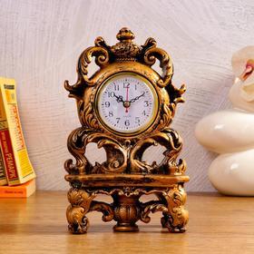 """Часы настольные """"Аселли"""", 1 АА, дискретный ход,  15.5х8.5х26.5 см"""