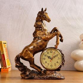 """Часы настольные """"Конь"""", 1 АА, дискретный ход,  27х12х36.5 см"""