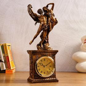 """Часы настольные """"Влюблённая пара"""", 1 АА, дискретный ход,  13.7х10х39 см"""