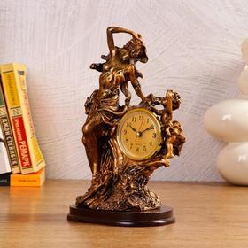 """Часы настольные """"Мать и дитя"""", 1 АА, дискретный ход,  14х10х25 см"""