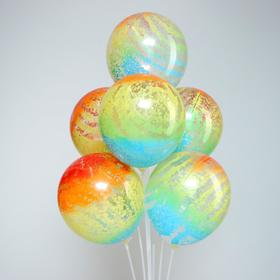 """Set of latex balloons 12"""" """"Abstraction"""", sticks, stand, holders, 10 PCs."""