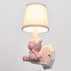 Бра 670605/1 E14 40Вт белый-розовый 14,5х17,5х33 см
