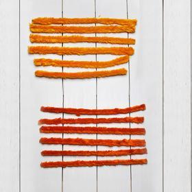 Проволока с ворсом для творчества, набор 6 шт., размер 1 шт: 30×2 см, цвет оттенки оранжевого