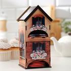 """Чайный домик двойной """"Дом с цветами"""" 9,6х22 см - фото 497396"""
