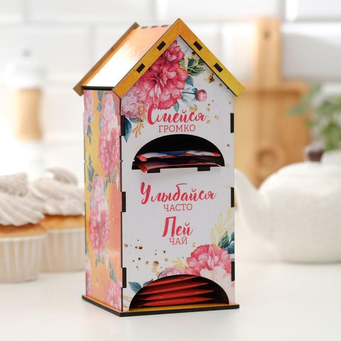 """Чайный домик двойной """"Пей чай"""" 9,6х22 см - фото 497420"""