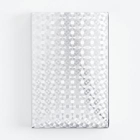 """Карты игральные пластиковые """"Абстракция"""", 54 шт, 30 мкр, 8.8×5.7 см, серебристые"""