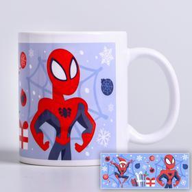 """Кружка сублимация """"Новый год!"""", Человек-паук, 350 мл"""