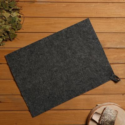 Bath and sauna Mat, felt grey, 38×52 cm