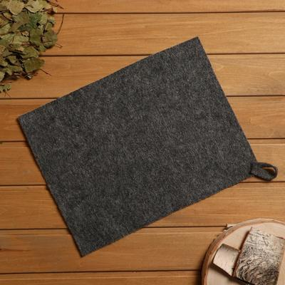 Bath and sauna Mat, felt grey, 30×40 cm