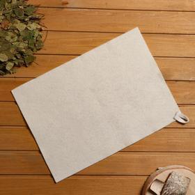 Коврик для бани и сауны, войлок белый, 38×52 см Ош