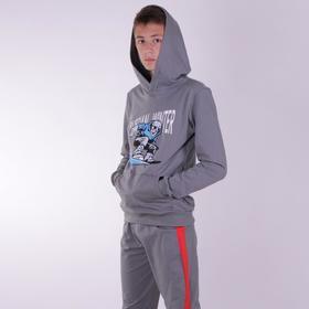 Толстовка для мальчика, цвет серый, рост 158 см