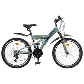 "Велосипед 24"" Progress модель Sierra FS RUS, цвет серый, размер 15"""
