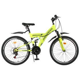 """Велосипед 24"""" Progress модель Sierra FS RUS, цвет зеленый, размер 15"""""""