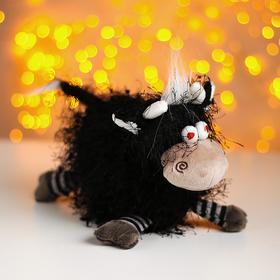 Мягкая игрушка «Бычок Крейзик», цвет чёрный в Донецке