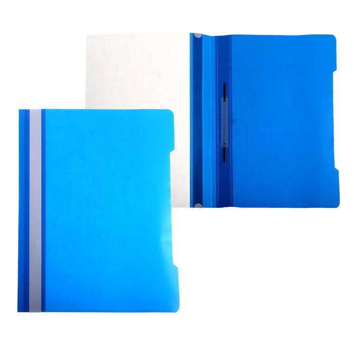 Папка-скоросшиватель А4, голубая