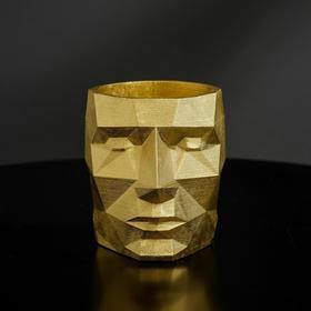 {{photo.Alt || photo.Description || 'Кашпо полигональное из гипса «Голова», цвет золотой, 7.5 × 9 см'}}
