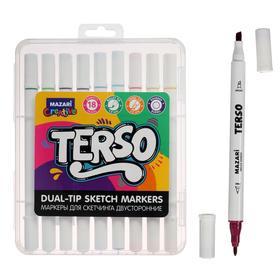 Маркер для скетчинга набор Mazari Terso, 18 цветов, корпус круглый