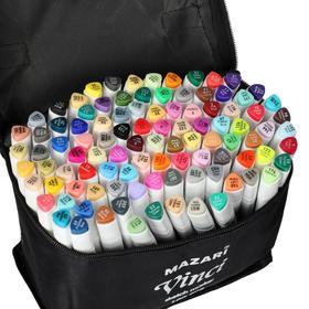Набор двухсторонних маркеров для скетчинга Mazari VINCI, 100 цветов, трёхгранный корпус