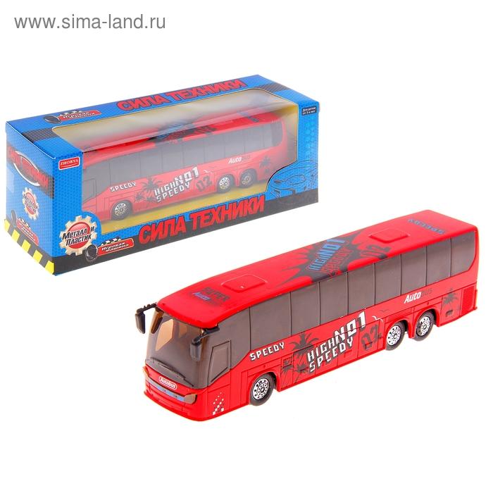 """Автобус металлический """"Сила техники"""", цвета МИКС"""