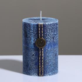 "Свеча - цилиндр ""Кантри Джинс"" , 7×10 см, голубой"