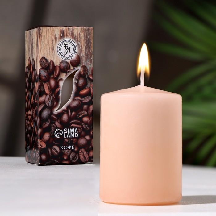 """Свеча ароматическая """"Кофе """", 4×6 см, в коробке - фото 980251"""