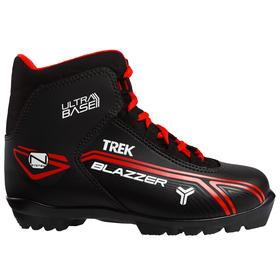 Ski boots TREK Blazzer NNN IR, black, logo red, size 45.