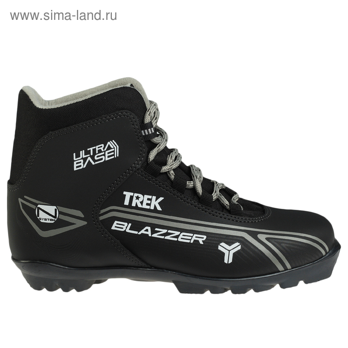 Ботинки лыжные TREK Blazzer NNN ИК, размер 44, цвет: черный