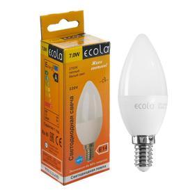 """Лампа светодиодная Ecola """"свеча"""", 7 Вт, Е14, 2700 К, 220 В, 105х37 мм"""
