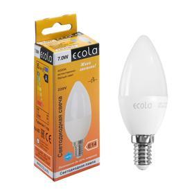 """Лампа светодиодная Ecola """"свеча"""", 7 Вт, Е14, 4000 К, 220 В, 105х37 мм"""