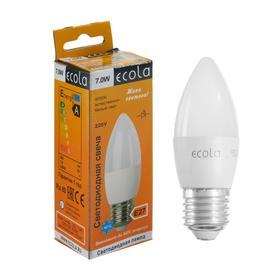 """Лампа светодиодная Ecola """"свеча"""", 7 Вт, Е27, 4000 К, 220 В, 103х37 мм"""