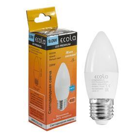 """Лампа светодиодная Ecola Premium """"свеча"""", 9 Вт, Е27, 6000 К, 220 В, 100х37 мм"""