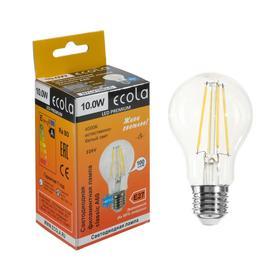 Лампа светодиодная филаментная Ecola classic Premium, А60, 10 Вт, Е27, 4000 К, 360°, 220 В