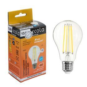 Лампа светодиодная филаментная Ecola classic Premium, А65, 13 Вт, Е27, 4000 К, 360°, 220 В